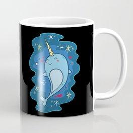 Kawaii Narwhal Unicorn Of The Sea Cute Whale Coffee Mug