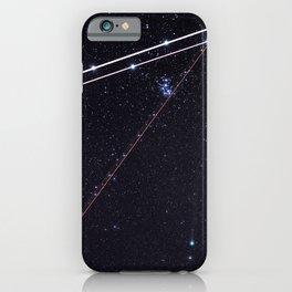 Flightpath in the Stars iPhone Case