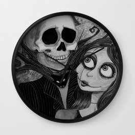 Jack and Sally Nightmare before Christmas Wall Clock