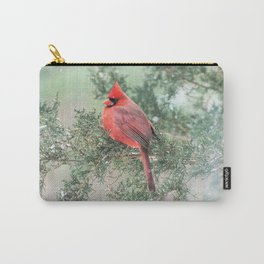 Christmas Bird (Northern Cardinal) Carry-All Pouch