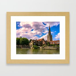 Along the Thames. Framed Art Print