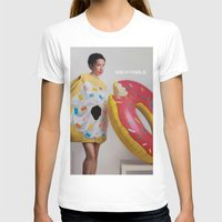 donut T-shirts featuring Donut by Sally Jane Fuerst