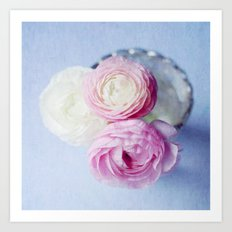 Summer Pastel Ranunculus Art Print