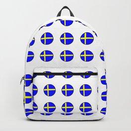 flag of sweden 3 Swedish,Sverige,Swede,Stockholm,Scandinavia,viking,bergman, strindberg Backpack