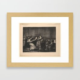 Dance in a Madhouse, First State by George Bellows (1882–1925) Framed Art Print