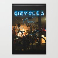 bicycles Canvas Prints featuring Bicycles   by {she tells stories}