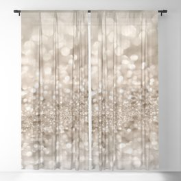 Gold Lady Glitter #2 #shiny #decor #art #society6 Sheer Curtain