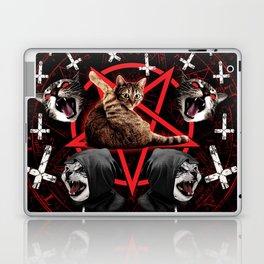 satanic cat pentagram death black metal band exorcist Laptop & iPad Skin