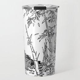 Sitting by the Bamboos Travel Mug
