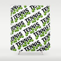 tennis Shower Curtains featuring Tennis by joanfriends