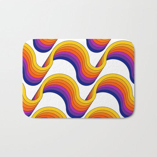Rainbow Ribbons Bath Mat