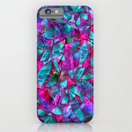 Floral Abstract Stained Glass G279 iPhone Case