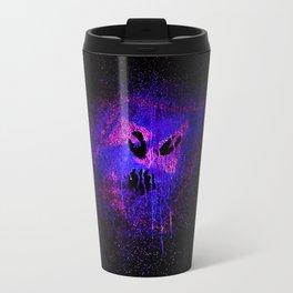 Space face Purple Travel Mug