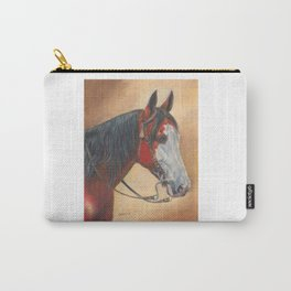Trail Horse with Tassel on Bridle Carry-All Pouch