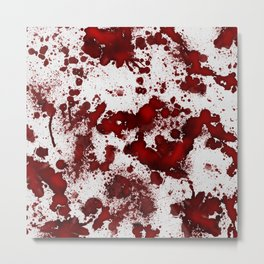 Blood Stains Metal Print