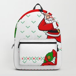 Dabbing Santa Ugly Christmas Sweater Backpack