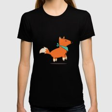 Fox Hop Womens Fitted Tee MEDIUM Black