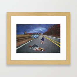 His GTO, the Raccoon, and You Framed Art Print