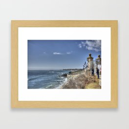 The Cliff Walk- Newport, RI Framed Art Print