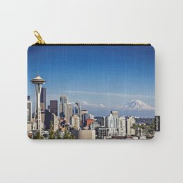 Seattle Overlook with Mt Rainier Carry-All Pouch