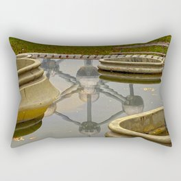 Atomium Brussels Painted Photography Rectangular Pillow