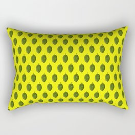 Hops Yellow Pattern Rectangular Pillow