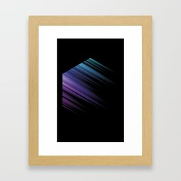 Color Box Black by [PE] Framed Art Print