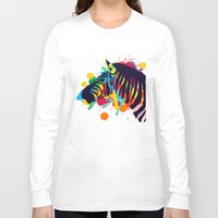 zebra Long Sleeve T-shirts featuring ZEBRA by mark ashkenazi