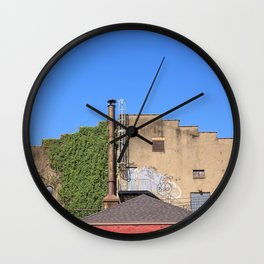 Cayuga St. looking West Wall Clock