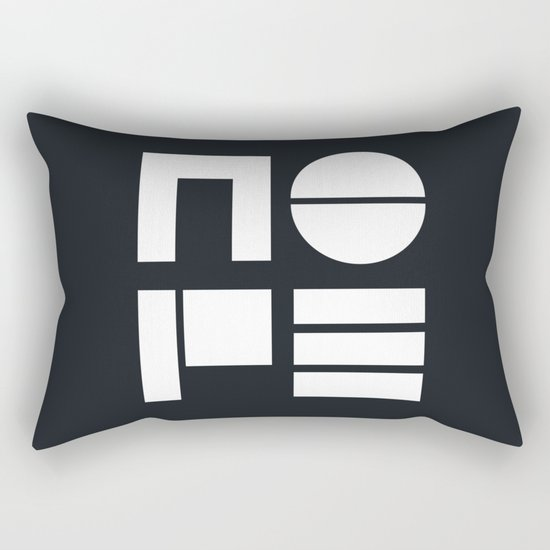 Nope in Black and White Rectangular Pillow
