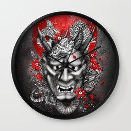 Hannya dragon mask Wall Clock
