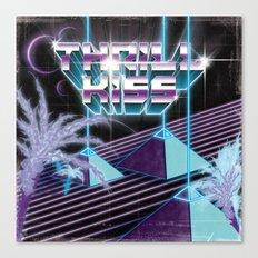 Thrillkiss Laser Pyramids Canvas Print