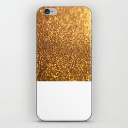Golden Glitter Shiny iPhone Skin