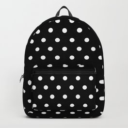 Polka dot black and white classic design Backpack