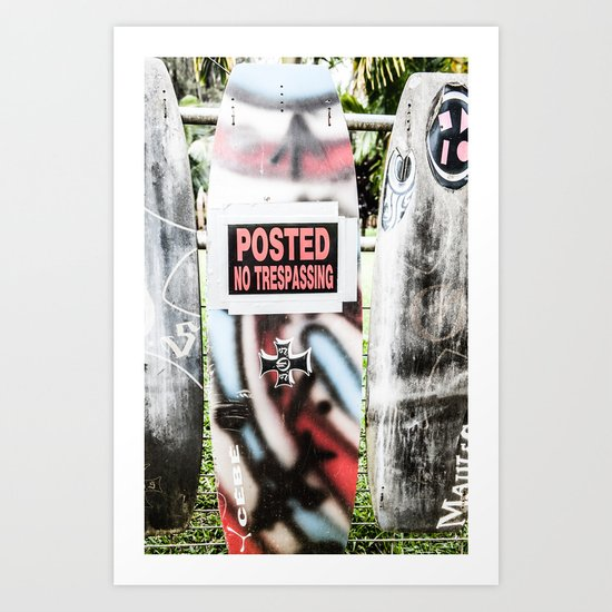 Serf boards, Maui Art Print