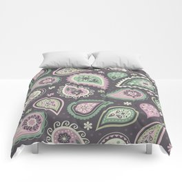 Soft romatic paisleys Comforters