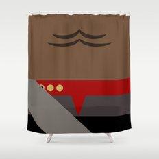 Worf - Minimalist Star Trek DS9 Deep Space Nine - Lieutenant Commander - startrek - Trektangles Shower Curtain
