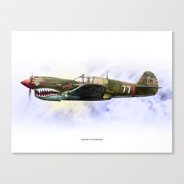 Curtiss P-40 Warhawk Canvas Print