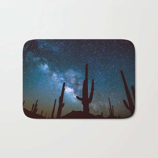 Milky Way Cacti Bath Mat