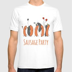Sausage Party Mens Fitted Tee White MEDIUM