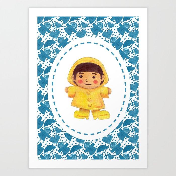 The Rain Girl Art Print