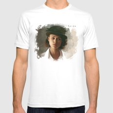 Keira Knightley in hat Mens Fitted Tee White X-LARGE