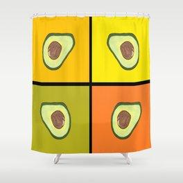 Tiled Avocado Shower Curtain