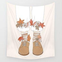 Autumn Walks Wall Tapestry