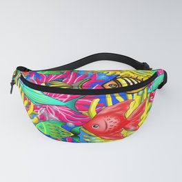 Fish Cute Colorful Doodles Fanny Pack