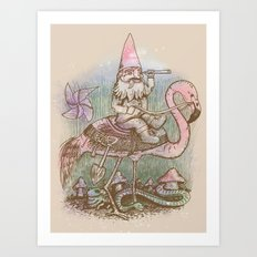 Journey Through The Garden Art Print