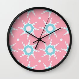 Girly Abstract Star Pattern Wall Clock
