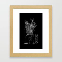 Fifth For Those Past (Bare Necessities) [Black] Framed Art Print