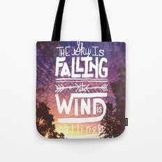 The sky is falling, the wind is calling Tote Bag