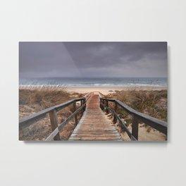 """To the beach...."". Wonderful sunrise Metal Print"